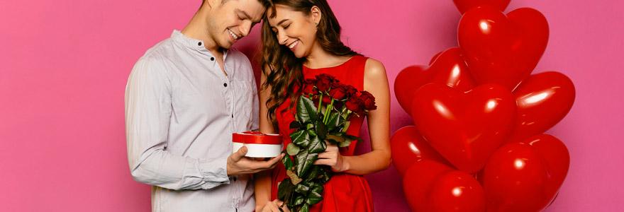 roses rouges à sa Valentine